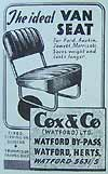 Van seat from  Cox and Co (Watford) Ltd