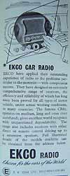 Car radio from  E.K. Cole Ltd
