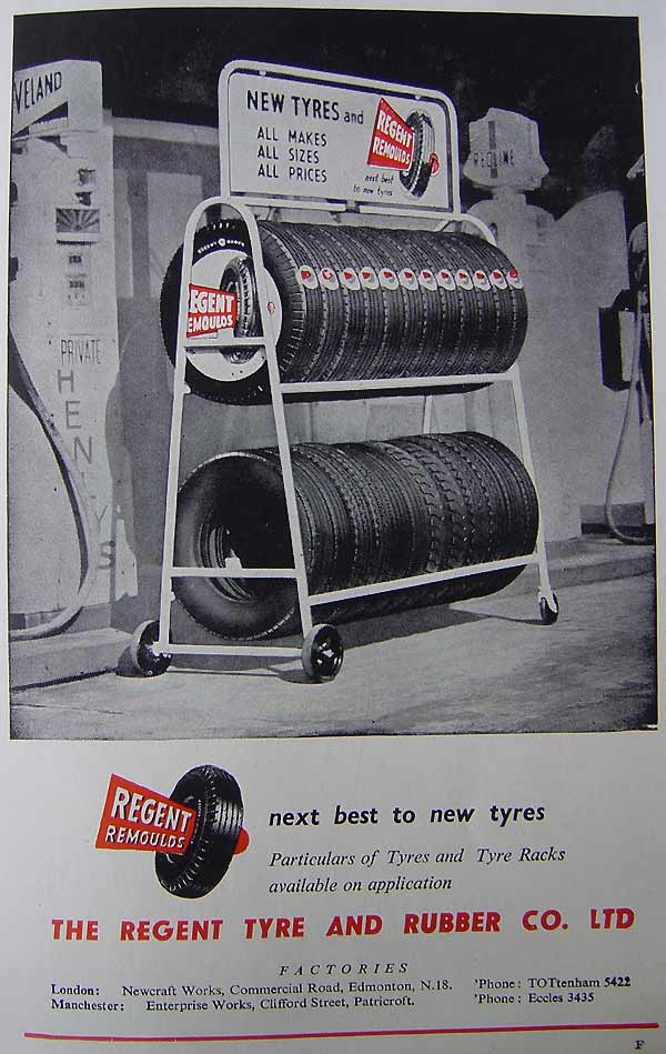 Tyres from The Regent Tyre and Rubber Co. Ltd