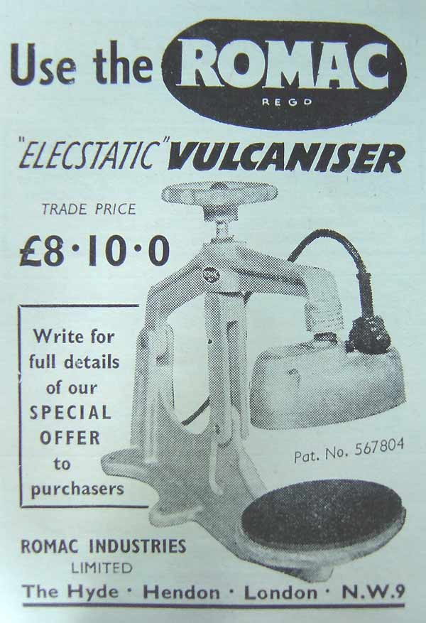 Vulcaniser from Romac Industries Ltd
